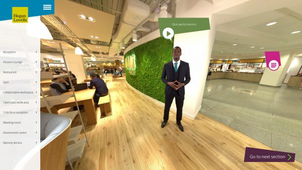 Hogan Lovells Virtual Recruitment Tour Circus 360