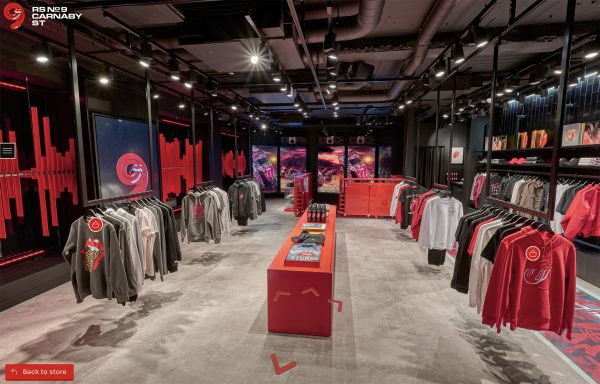 Rolling Stones store carnaby street rails